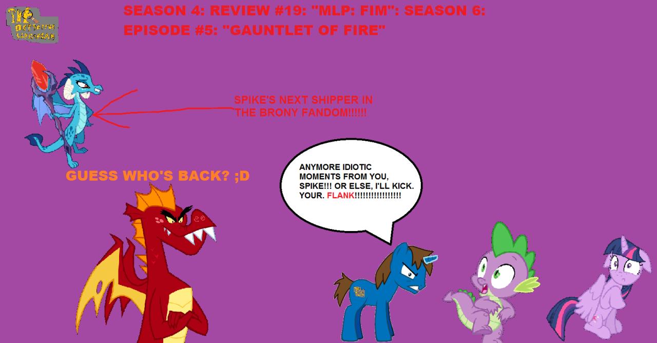season 4 review 19 mlp fim season 6 episode 5 gauntlet of
